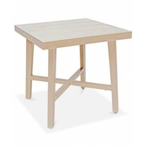 Furniture Closeout! Beach House Aluminum Outdoor Outdoor End Table, Created for Macy's  - Beige Finish