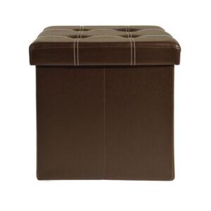 Achim Collapsible Tufted Storage Ottoman  - Brown