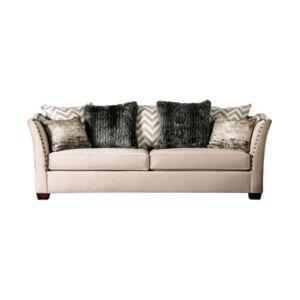 Furniture of America Keinisha Upholstered Sofa  - Natural