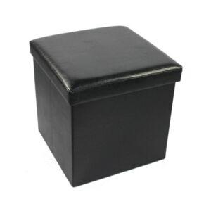 Achim Collapsible Storage Ottoman  - Black