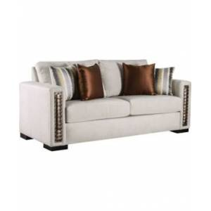 Furniture of America Millago Upholstered Sofa  - Natural