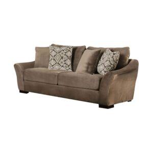 Furniture of America Mallena Upholstered Sofa  - Brown