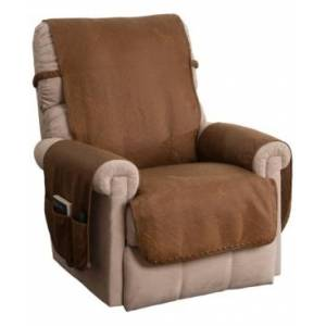 P/Kaufmann Home Faux Leather Recliner  - Cognac