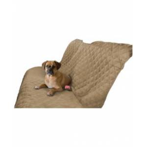 Precious Tails Micro Suede Pet Car Bench Seat Cover Protector  - Camel
