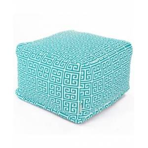 "Majestic Home Goods Towers Ottoman Square Pouf 27"" x 17""  - Teal"