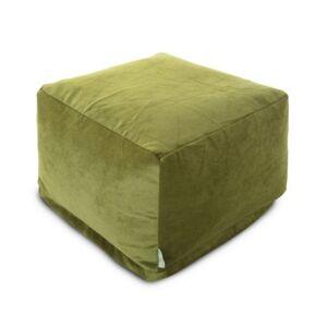 """Majestic Home Goods Villa Ottoman Square Pouf 27"""" x 17""""  - Green"""