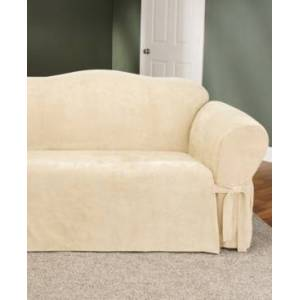 Sure Fit Soft Faux Suede Loveseat Slipcover  - Taupe