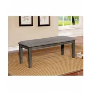 Furniture Of America Tristen Transitional Fabric Dining Bench  - Gray