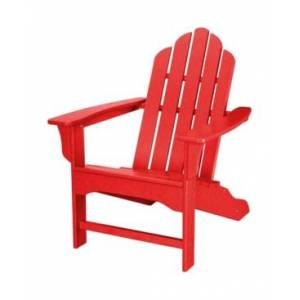"""Hanover All-Weather Contoured Adirondack Chair - 37.5"""" x 29.75"""" x 37""""  - Red"""
