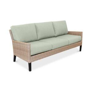 Furniture Amari Parchment Outdoor Sofa With Sunbrella Cushions  - Cast Oasis