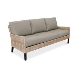 Furniture Amari Parchment Outdoor Sofa With Sunbrella Cushions  - Spectrum Dove