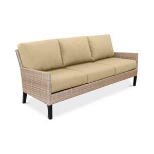 Furniture Amari Parchment Outdoor Sofa With Sunbrella Cushions  - Spectrum Sand