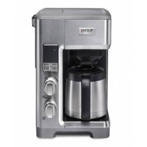 Wolf Gourmet Automatic Drip Coffee Maker  - Stainless Steel With Stainless Knob