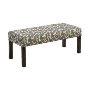 Us Pride Furniture Connie Fabric Wood Bench  - Multi