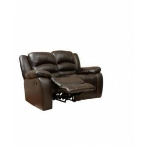 Abbyson Living Closeout! Paloma Leather Recliner Loveseat  - Brown
