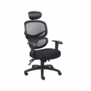 Boss Office Products Task Chair With Headrest  - Black