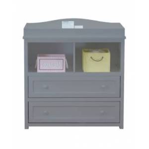Athena Leila Changing Table & Dresser, White  - Grey
