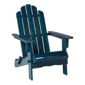 Walker Edison Patio Wood Adirondack Chair  - Blue