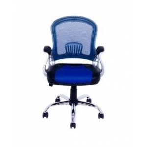 CorLiving Workspace Office Chair with Leatherette and Mesh  - Blue