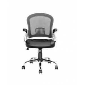 CorLiving Workspace Office Chair with Leatherette and Mesh  - Black