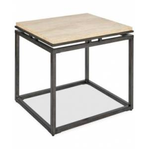 Furniture London Marble End Table  - Cream