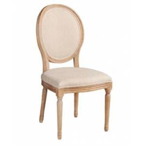 Linon Home Decor Avalon Oval Back Chair Set of 2  - Natural