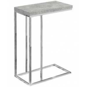 Monarch Specialties End Table/Snack Table  - Heather Gray