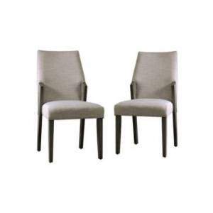 Furniture of America Juhanna Upholstered Side Chair- Set of 2  - Cream