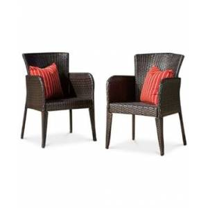 Noble House Dyson Dining Chair Set  - Brown