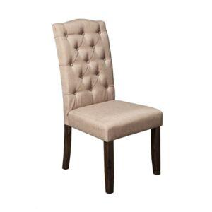 Alpine Newberry Parson Chair, Set of 2  - Salvaged Grey Finish