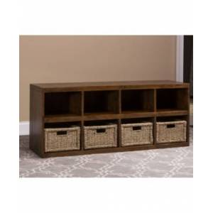 Hillsdale Tuscan Retreat Storage Console with Four (4) Baskets  - Brown