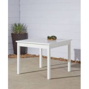 Vifah Bradley Outdoor Stacking Table  - White