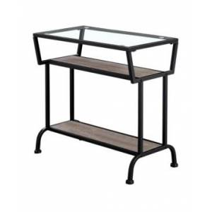 "Monarch Specialties Accent Table - 22"" H Tempered Glass  - Taupe"