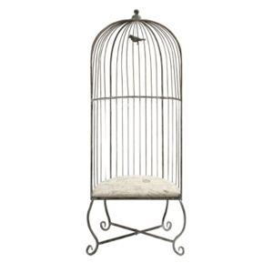 Imax Dorchester Birdcage Accent Chair  - Gray