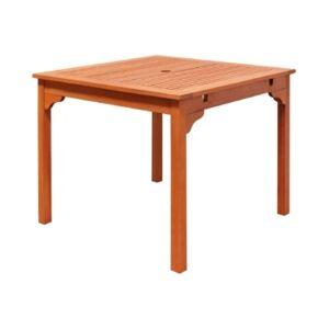 Vifah Malibu Outdoor Stacking Table  - Tan