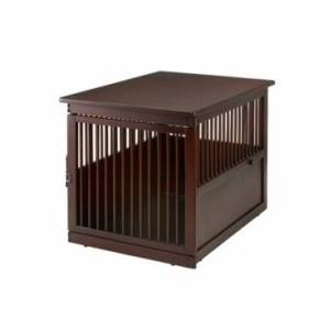 Richell Wooden End Table Crate - Large  - Dark Brown