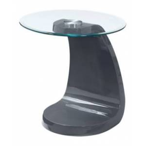 Furniture of America Ouyen Oval End Table  - Gray