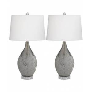 kathy ireland by Pacific Coast Set of 2 Volcanic Table Lamps  - Grey