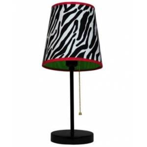 All The Rages Limelight's Fun Prints Funky Pattern Table Lamp  - Black