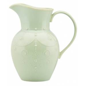 Lenox Dinnerware, French Perle Ice Blue Pitcher Large Pitcher  - Ice Blue