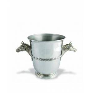 Vagabond House Pewter Horse Head Ice, Wine, Champagne Bucket  - silver
