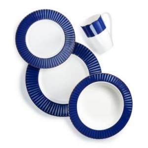 Lenox Pleated Colors Navy 4-Pc. Place Setting  - Navy