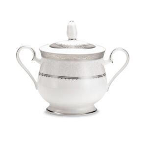 Noritake Dinnerware, Odessa Platinum Sugar Bowl with Lid