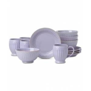 Lenox French Perle Groove Lilac 12-Pc. Dessert Set Service For 4, Created for Macy's  - Lilac