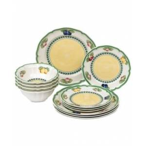 Villeroy & Boch French Garden 12-Pc. Dinnerware Set, Service for 4, Created for Macy's  - Fleurence