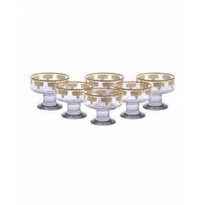 Classic Touch Dessert Bowls with 14K Gold Design, Set of 6  - Gold Plated