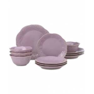 Lenox French Perle Violet 12-Pc. Dinnerware Set Service For 4, Created for Macy's  - Violet