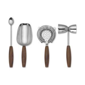 Lenox Tuscany 4-Pc. Bar Tool Set  - Brown And Silver