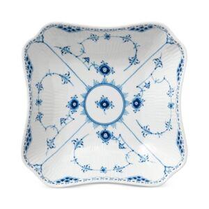 Royal Copenhagen Blue Fluted Half Lace Square Bowl  - Multi