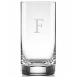 Lenox Tuscany Monogram Barware Block Letter Highball Glasses, Set Of 4